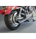 "SCARICHI 3"" SLASH DOWN PER HARLEY 1200X SPORTSTER FORTY EIGHT"