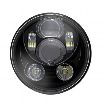 SIX LED FRONT HEADLIGHT BODY EU APPROVED 5.75 SUPERLIGHT FOR HARLEY DAVIDSON FXST/FLST SOFTAIL '07-'17