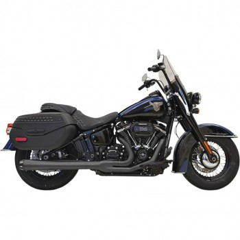 EXHAUST 2-INTO-1 SYSTEMS BASSANI ROAD RAGE BLACK FOR HARLEY DAVIDSON SOFTAIL HERITAGE/FAT BOY/DELUXE M8 2018