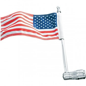 "AMERICAN FLAG WITH MOUNT 1/2"" TUBING MOTORCYCLE"