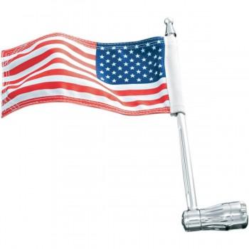 """AMERIKANISCHE FLAGGE MIT BEFESTIGUNG 1/2 """"TUBING MOTORRAD"""
