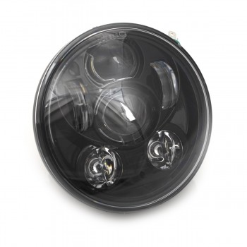SIX LED FRONT HEADLIGHT BODY EU APPROVED 5.75 SUPERLIGHT FOR HARLEY DAVIDSON FXD DYNA '97-'17