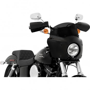 "PARABREZZA SUPERIORE 7"" 18 CM. NERO FUME' PER CARENATURA ROAD WARRIOR FAIRING"