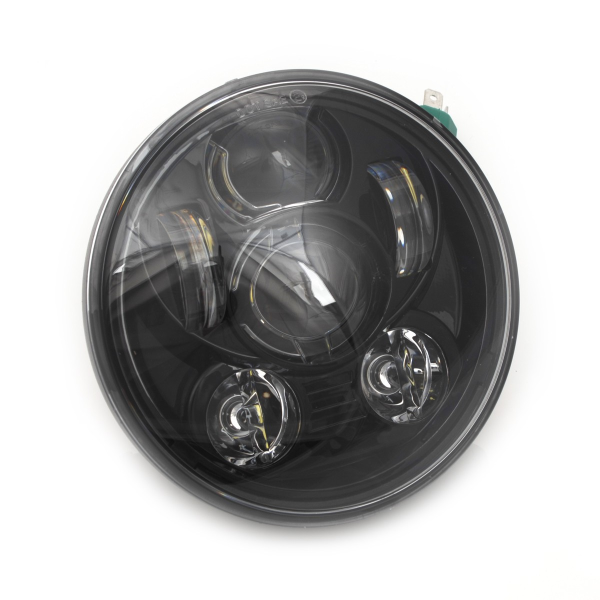 BLACK SIX LED FRONT HEADLIGHT BODY EU APPROVED 5 75