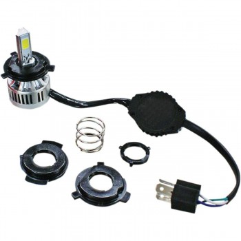 """H4 LED 100 RIVCO REPLACEMENT BULB WHITE FOR HEADLIGHT 5 3/4"""" HARLEY DAVIDSON"""
