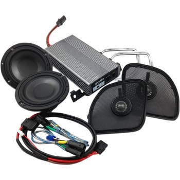 KIT AMPLIFICATORE/ALTOPARLANTI CASSE AUDIO 400 WATT WILD BOAR AUDIO PER HARLEY DAVIDSON FLTRX ROAD GLIDE '15-'19