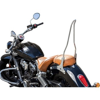 """SISSY BAR ATTITUDE 18"""" CHROME FOR INDIAN SCOUT '15-'19"""