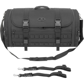 RACK TRAVEL BAG EXPANDABLE TR3300DE TACTICAL FOR CUSTOM MOTORCYCLE AND HARLEY DAVIDSON