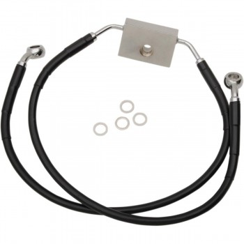 BLACK CABLE STANDARD WITH ABS STAINLESS STEEL LINE KITS FRONT BRAKE OEM 41800151 HARLEY DAVIDSON XL 883N IRON '14-'19