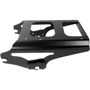 BLACK 2-UP DETACHABLE TOUR-PAK® MOUNTING RACK NO LOCKING HARLEY DAVIDSON FLH/FLT TOURING '09-'13