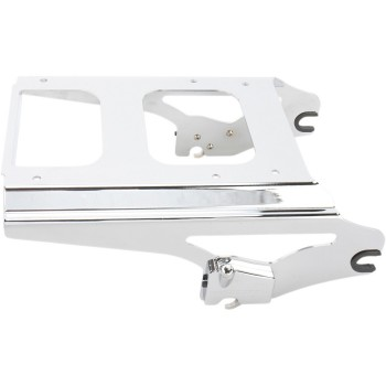 CHROME 2-UP DETACHABLE TOUR-PAK® MOUNTING RACK LOCKABLE HARLEY DAVIDSON FLH/FLT TOURING '09-'13