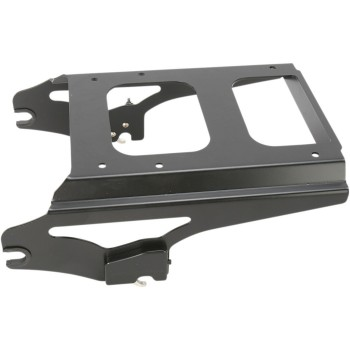 BLACK 2-UP DETACHABLE TOUR-PAK® MOUNTING RACK LOCKABLE HARLEY DAVIDSON FLH/FLT TOURING '09-'13