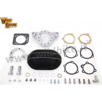 AIR CLEANER KIT BOX WYATT RETRO STYLE OVAL FOR HARLEY DAVIDSON XL SPORTSTER '91-'06