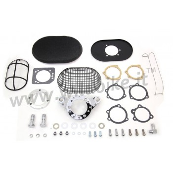 AIR CLEANER KIT BOX WYATT RETRO STYLE OVAL BLACK HARLEY DAVIDSON XL SPORTSTER '07-'19