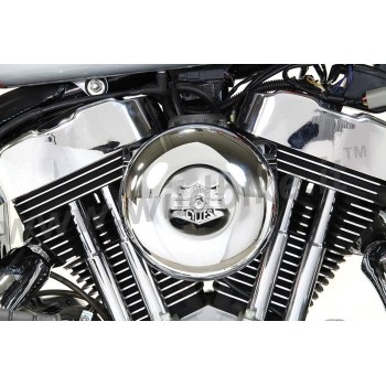 AIR CLEANER KIT BOX WYATT GATLING ROUND CHROME HARLEY DAVIDSON XL SPORTSTER '07-'19