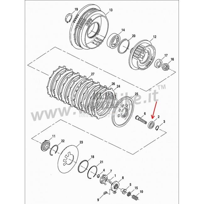 Bearing For Clutch Pressure Plate Oem Hd 8885 Harley Davidson Xl