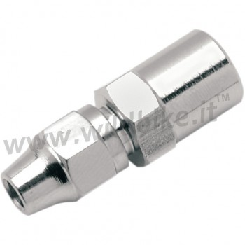 CHROME UNIVERSAL BRAKE FITTING STRAIGHT AN 3 MOTORCYCLE AND HARLEY DAVIDSON