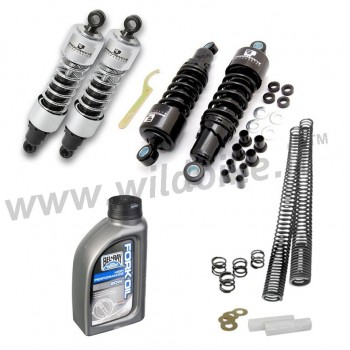"LOWERED KIT SHOCK ABSORBERS 412 SERIE 11.5"" AND FORK SPRINGS HARLEY DAVIDSON SPORTSTER '04-'15"