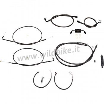 "COMPLETE CABLE/BRAKE LINE KITS FOR HANDLEBAR APE HANGER 15"" -17""  HARLEY DAVIDSON XL SPORTSTER ABS '14-'19"