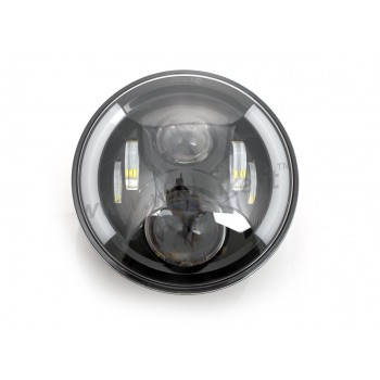"""PROJECTOR DAYMAKER LED HEADLIGHT EU APPROVED 7.7"""" SUPERLIGHT MULTIFUNCTION FOR MOTORCYCLE"""