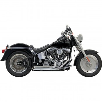EXHAUSTS BASSANI PRO STREET TURN-OUT 2INTO2 CHROME HARLEY DAVIDSON FXS/FLS SOFTAIL '86-'17