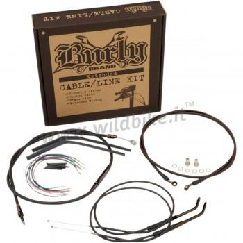 "COMPLETE KIT EXTENDED CABLES HANDLEBAR MINI APE HANGER 10"" HARLEY DAVIDSON FXD DYNA '07-'11"