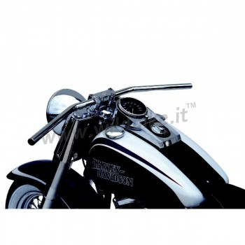 "HANDLEBAR TRW DRAG BAR 79.5 CHROME 1 "" WITH INDENT CUSTOM MOTORCYCLE AND HARLEY DAVIDSON"