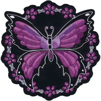 "ECUSSONS BRODES PATCH BUTTERFLY CHAIN BIKER 12 ""X 13"""