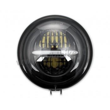 FARO FANALE ANTERIORE A LED THUNDERBOLT OMOLOGATO 155 MM BATES NERO LUCIDO PER MOTO