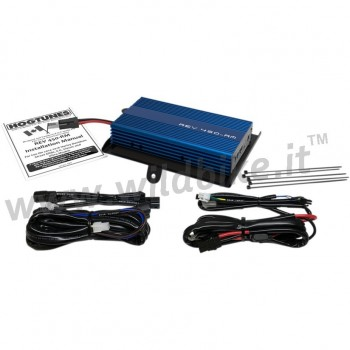 HOGTUNES REV BLUE SERIES AMPLIFIER KIT 200W 4 CHANNEL FOR HARLEY DAVIDSON FLHT/FLHX TOURING 14-'19