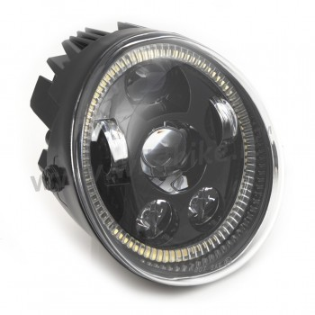SCHEINWERFER LED RING FRONT EU GENEMIGHT SUPERLIGHT SCHWARZ HARLEY DAVIDSON V-ROD