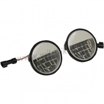 "LAMPS PASSING 4.5"" LED REFLECTOR STYLE PREMIUM EU APPROVED FOR CUSTOM MOTORCYCLE AND HARLEY DAVIDSON"