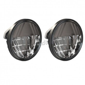 "LAMPS PASSING 4.5"" LED REFLECTOR STYLE PREMIUM DARK EU APPROVED FOR CUSTOM MOTORCYCLE AND HARLEY DAVIDSON"