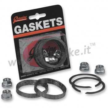 EXHAUST PORT GASKET KIT GRAPHITE HEX NUTS FOR PIPES AND MUFFLERS HARLEY DAVIDSON