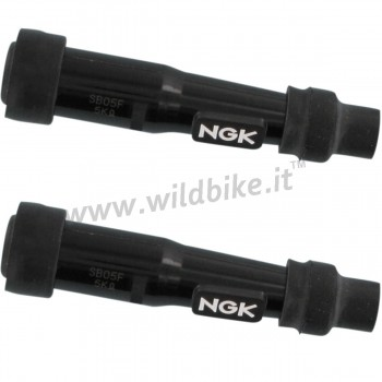 NGK SPARK PLUG CAP BLACK SB05F STRAIGHT FOR CABLE 7 MM MOTORCYCLE