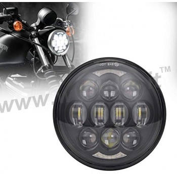 BLACK 12 LED EMC FRONT HEADLIGHT BODY EU APPROVED 5.75 SUPERLIGHT FOR HARLEY DAVIDSON