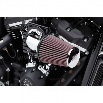 CHROME AIR FILTER KIT COBRA CONE HIGH PERFORMANCE FOR HARLEY DAVIDSON M-EIGHT SOFTAIL '18-'19
