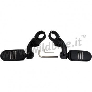 """BLACK CUSTOM  2.5"""" FOOTPEGS FOR ENGINE GUARD 1-1/4"""" HARLEY DAVIDSON AND MOTORCYCLES"""