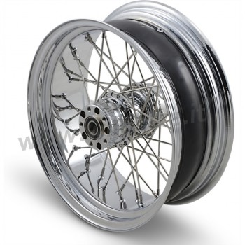 "WHEELS REPLACEMENT LACED REAR 40 SPOKES 17"" X 6"" CHROME FOR HARLEY DAVIDSON FXST SOFTAIL '08-'10"
