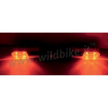 INDICATORI DI DIREZIONE FRECCE BOLT-ON LED AMBRA NERE HARLEY DAVIDSON XL SPORTSTER '00-'19