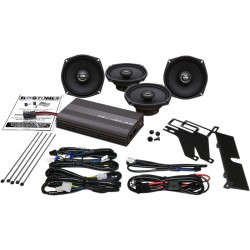 AMPLIFIED SPEAKER KIT REV 450U BIG ULTRA HOGTUNES GEN 3 HARLEY DAVIDSON FLHT ELECTRA...
