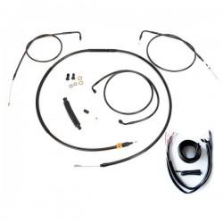 COMPLETE CABLE/BRAKE LINE KITS FOR HANDLEBAR MINI APE HANGER HARLEY DAVIDSON XL SPORTSTER ABS '14-'19