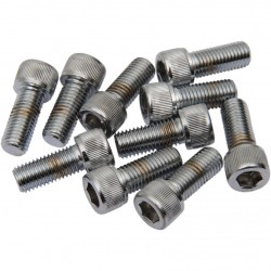 "CHROME KNURLED SOCKET HEAD BOLTS 5/16""-24 x 3/4""HARLEY DAVIDSON"