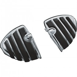 DRIVER/PASSENGER FOOTPEGS WING COMFORT ISO CHROME FOR TRIUMPH BONNEVILLE AMERICA/SPEEDMASTER