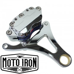SPRINGER FORK FRONT END BRAKE CALIPER KIT LEFT SIDE CHROME FOR HARLEY DAVIDSON