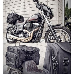 TRAVEL TAIL BAG TS3200DE TACTICAL  SISSY BAR LUGGAGE RACK FOR MOTORCYCLE AND HARLEY...