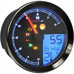 BLACK MULTIMETER TACHOMETER LCD KOSO HD-01 FOR  HARLEY DAVIDSON XL SPORTSTER '14-'20