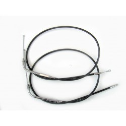 "BLACK THROTTLE AND IDLE CABLE SET 34.84"" 88 CM LENGHT HARLEY DAVIDSON FXST/FLST SOFTAIL..."