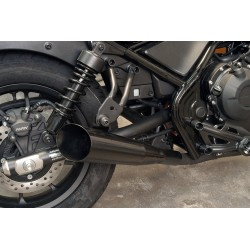 EXHAUST MUFFLER SLIP-ON MAC SLASH CUT BLACK FOR HONDA CMX 500 ABS REBEL
