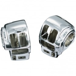 CHROME SWITCH HOUSINGS  HARLEY DAVIDSON FLH FLT TOURING '96-'13